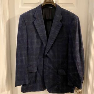 Canali Wool and Cashmere Navy Sport Coat Jacket
